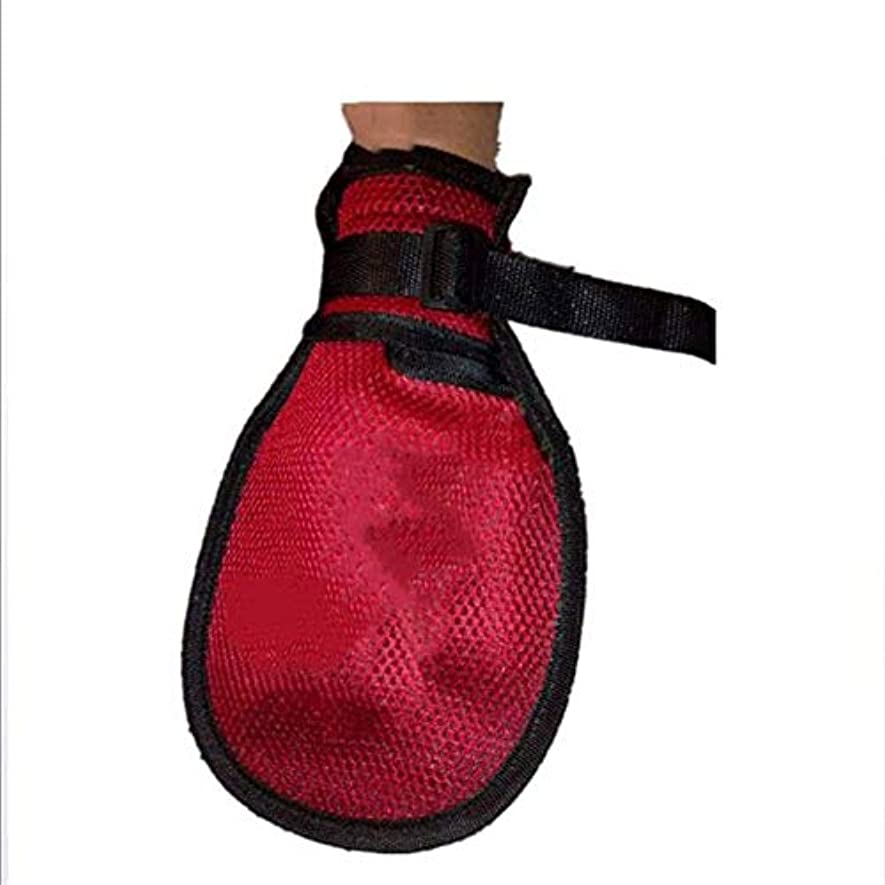 2ピースフィンガーコントロールミット、安全拘束手袋通気性患者抗抜管手袋、シニア用、医療用手袋病院用手拘束 100%の品質保証 (Size : S)