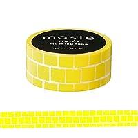 マークス マスキングテープ ベーシック 「マステ」 ハンドペイント ブロック イエロー