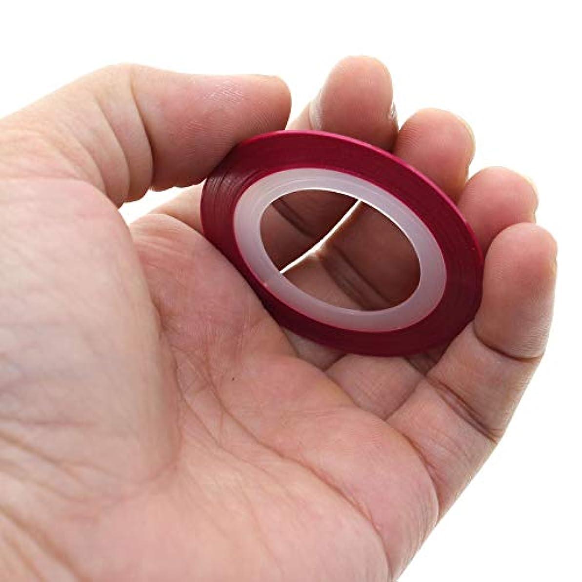 ネイルアート ストリップ テープ ラインファッションのヒント ステッカー マニキュア デカール プロフェッショ ナルユースレッド 強化効果のハイライト レッド