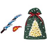 鬼滅の刃 DX日輪刀 + インディゴ クリスマス ラッピング袋 グリーティングバッグ3L クリスマスツリー ダークグリー…