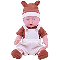 KIDDING 41cmベビードール可愛い ベビードール 赤ちゃんの人形赤ちゃん リボーンドールデビュー ビニールリアル 赤ちゃんお世話セット (41cmのビブの男の子)
