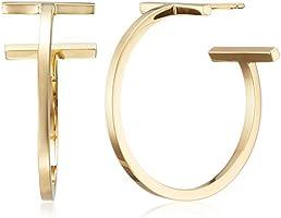 [[ティファニー] TIFFANY Tワイヤー フープピアス 18Kゴールド ミディアム  【並行輸入品】 33429983] TIFFANY 18Kゴールドイヤリング 33429983