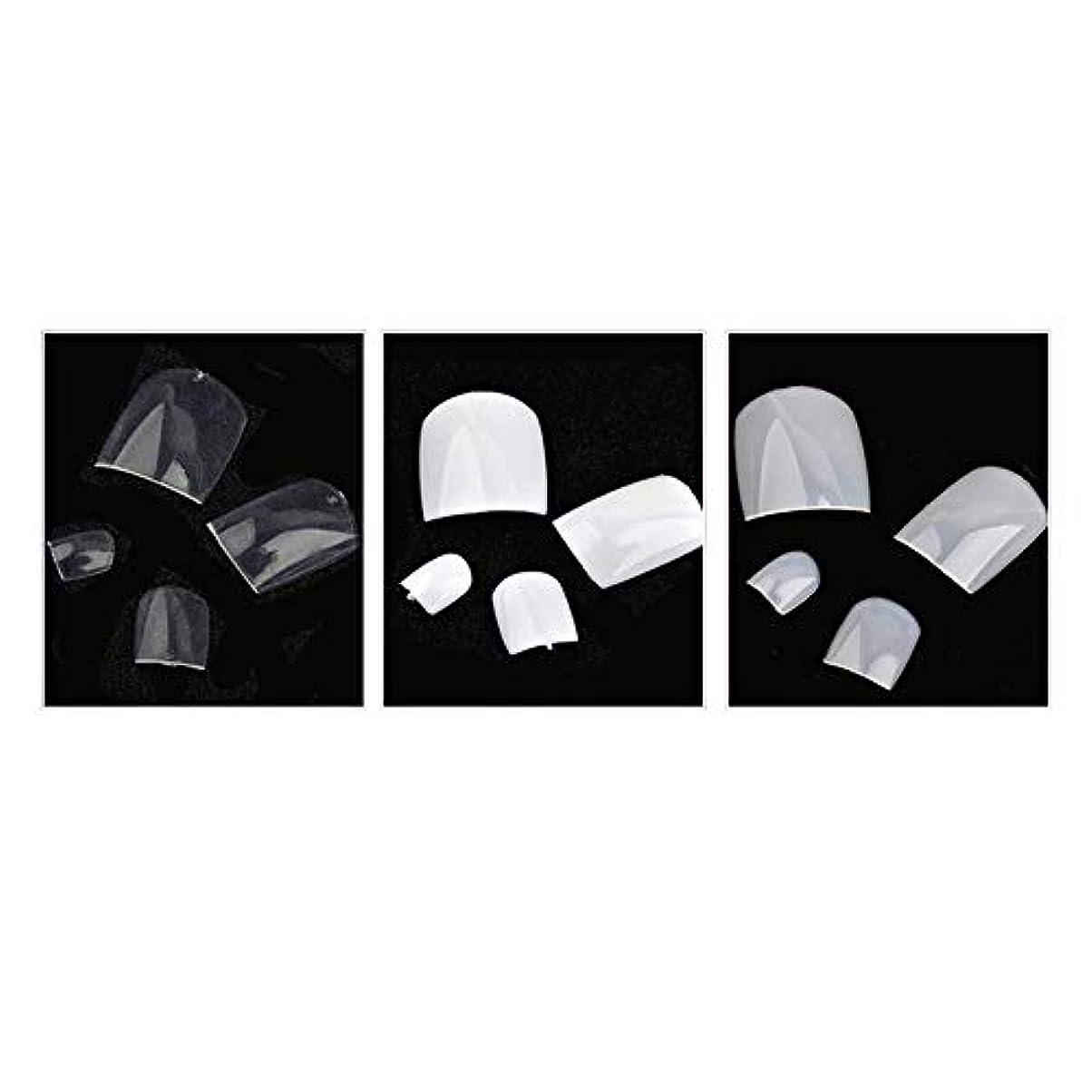 位置づける推論チロネイルチップ 足用 手作りネイルチップ つけ爪 ファッション 全3色 約600枚 シンプル パーティー、二次会などに適用 Moomai