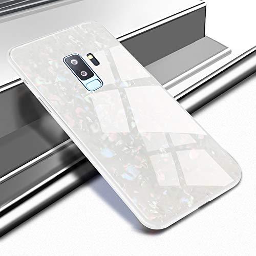 Galaxy S9 Plusケース、強化ガラス シリコンフレ...