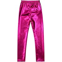 COODIO Girls Gold Metal Color Tight Leggings Waterproof Windproof Stain-proof Ninth Pants Trousers