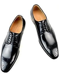 [ルシウス] LUCIUS 本革 レザー 革靴 メンズ ビジネスシューズ 外羽根 レースアップ メダリオンドレスシューズ 紳士靴