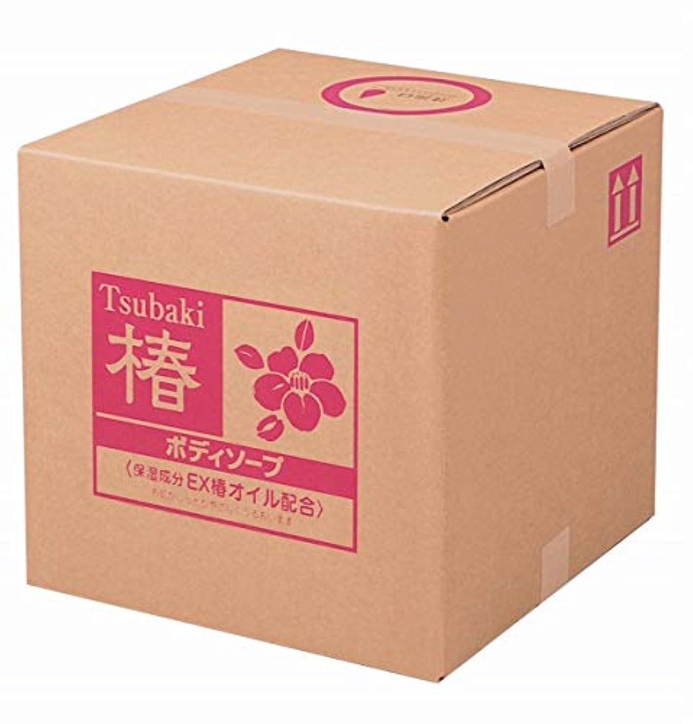 ガチョウウッズシュガー業務用 椿 ボディソープ 18L 熊野油脂 (コック付き)