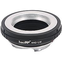 Haogeレンズマウントアダプタfor m42スクリューマウントレンズto Leica m-mountカメラなどm240、m240p、m262、m3、m2、m1、CL、m4、m5、m6、MP、m7、m8、m9、m9-p、M Monochrom、m-e、M、M。P。、m10、M - A