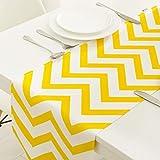 テーブルランナーファッションクラシックコットンとリネンのブレンドテーブルランナー黄色幾何学格子テーブルランナー家の装飾パーティーギフト (Size : 30*160cm)