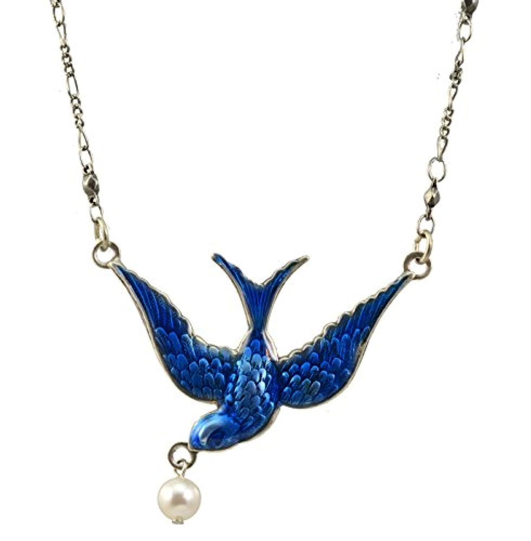 Anne Koplik 青い鳥ネックレス ビーズつき