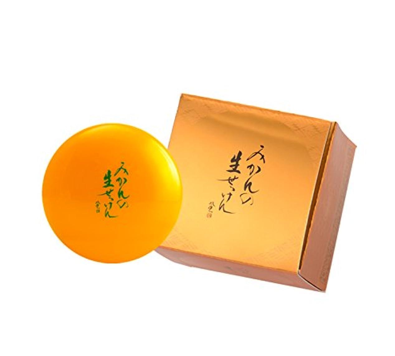 敵意札入れポップ美香柑 みかんの生せっけん 洗顔石鹸 無添加 スパチュラ?泡立てネット付 大容量 ジャータイプ 120g