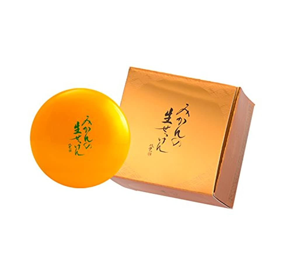 スラッシュ費用親指美香柑 みかんの生せっけん 洗顔石鹸 無添加 スパチュラ?泡立てネット付 大容量 ジャータイプ 120g