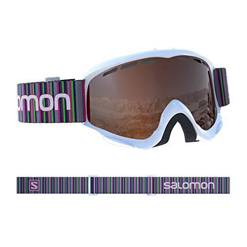 サロモン(SALOMON) スキー スノーボード ゴーグル ジュニア JUKE White/Tonic Orange L39136700