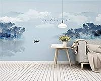 Mbwlkj 新しい中国の抽象的な古典的な3 D壁紙芸術的な風景風景寝室リビングルーム装飾壁画壁紙-200cmx140cm