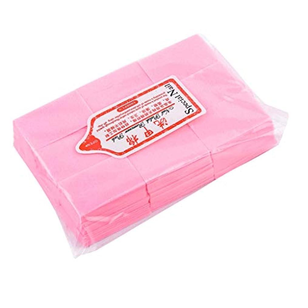 クロール汚物異常T TOOYFUL ネイルアート コットンパッド メイク落とし ネイルケア マニキュア メイクアップパッド 全4色 - ピンク