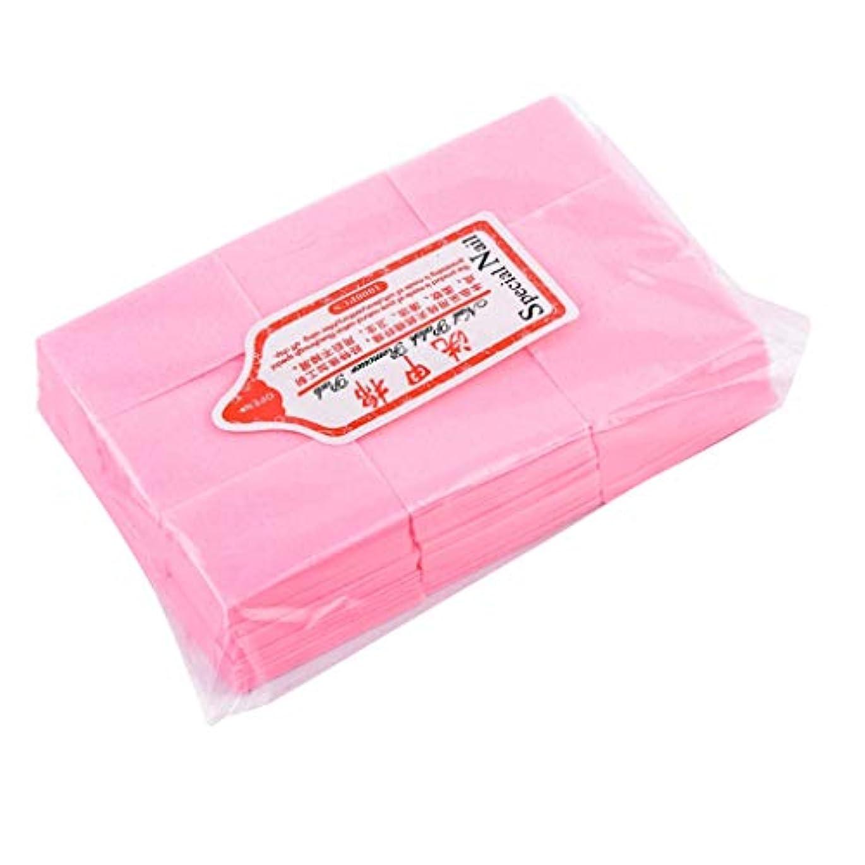 突撃夫婦パパT TOOYFUL ネイルアート コットンパッド メイク落とし ネイルケア マニキュア メイクアップパッド 全4色 - ピンク