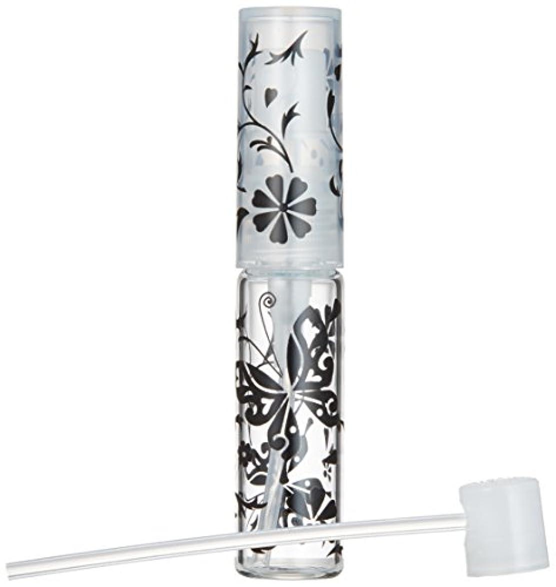 宣伝時代騒々しい50138 【ヤマダアトマイザー】グラスアトマイザー プラスチックポンプ 柄 バタフライ ブラック