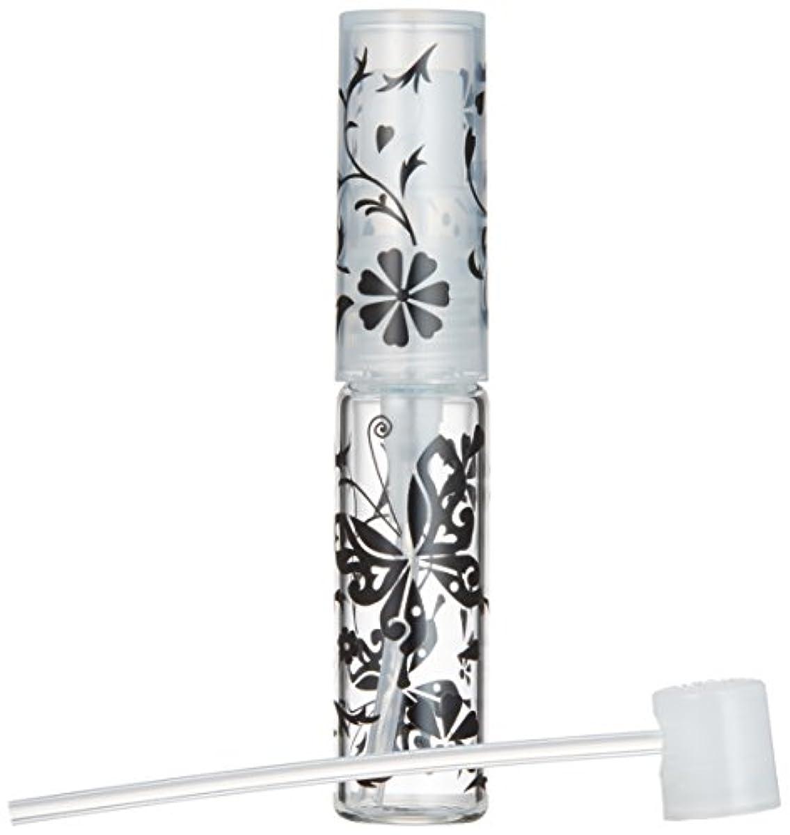 50138 【ヤマダアトマイザー】グラスアトマイザー プラスチックポンプ 柄 バタフライ ブラック