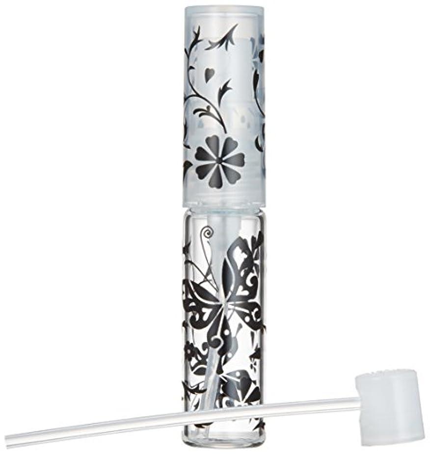 教室付与摂動50138 【ヤマダアトマイザー】グラスアトマイザー プラスチックポンプ 柄 バタフライ ブラック