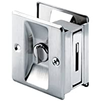 Slide-Co 164159 Pocket Door Privacy Lock with Pull Satin Nickel [並行輸入品]