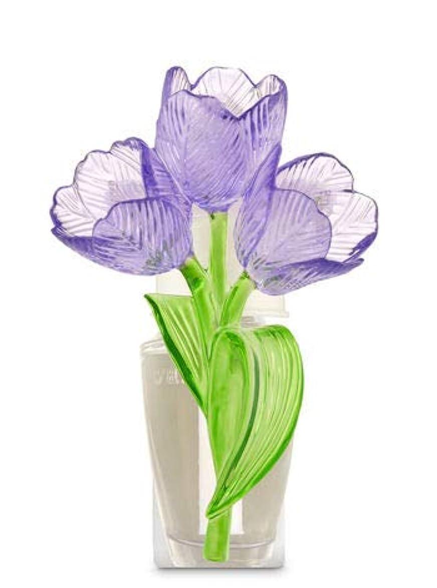 版アナログ相対サイズ【Bath&Body Works/バス&ボディワークス】 ルームフレグランス プラグインスターター (本体のみ) チューリップ ナイトライト Wallflowers Fragrance Plug Tulips Night...