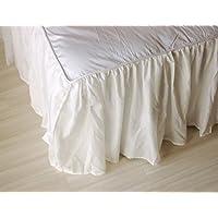 レイヤードベッドスカート アウトレット ベッドシーツ スカート かわいい シフォン (シングル)