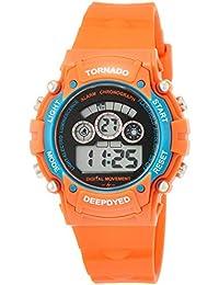 [フィールドワーク]Fieldwork 腕時計 デジタル トルネード 直径39.5mm ウレタンベルト カレンダー ストップウォッチ機能付き オレンジ KDS001-2 ボーイズ