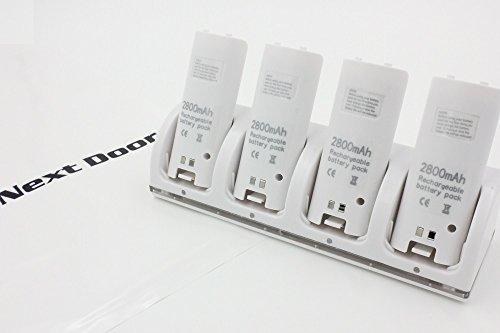 【wii U/Wii 用】 リモコン バッテリー 4個付 4...
