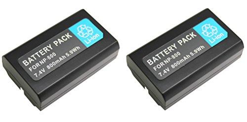 NinoLite EN-EL1 NP-800 互換 バッテリー 2個セット ニコンCOOLPIX 8700 ミノルタDiMAGEA 200 等共通対応 enel1x2_t.k.gai