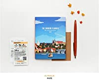 ミニ 計画 プランナー(Mini Planner) スタディプランナー 韓国 文具類 旅行 イラスト 観光地 カラフル デザイン ギフト ボーイフレンド 学生 友達 高度な設計 人気のある (プラハ(Prague))
