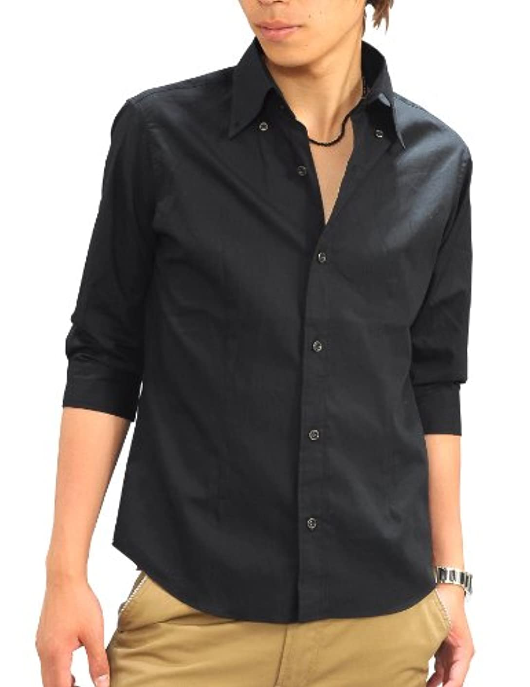 閉塞会計軍(スペイド) SPADE シャツ メンズ 7分袖 5分袖 きれいめ 日本製 ボタンダウン【q587】