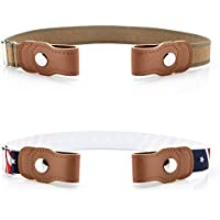 Toddlers Buckle-free Stretch Belts for Girls Boys, Pack of 2 No Buckle Adjustable belt by BiBest