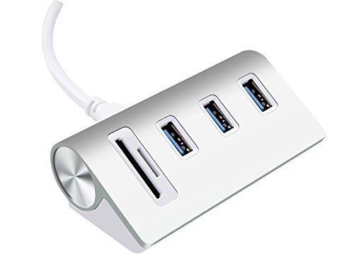 2スロットカードリーダーコンボ搭載バス電源供給 USB 3.0 3ポートハブ