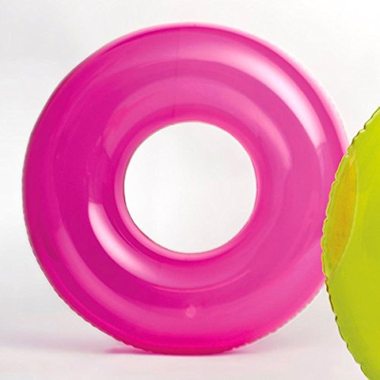 INTEX(インテックス) 浮き輪 トランスピアレントチューブ 76cm ピンク 対象年齢:8歳から swm-uk-59260pk