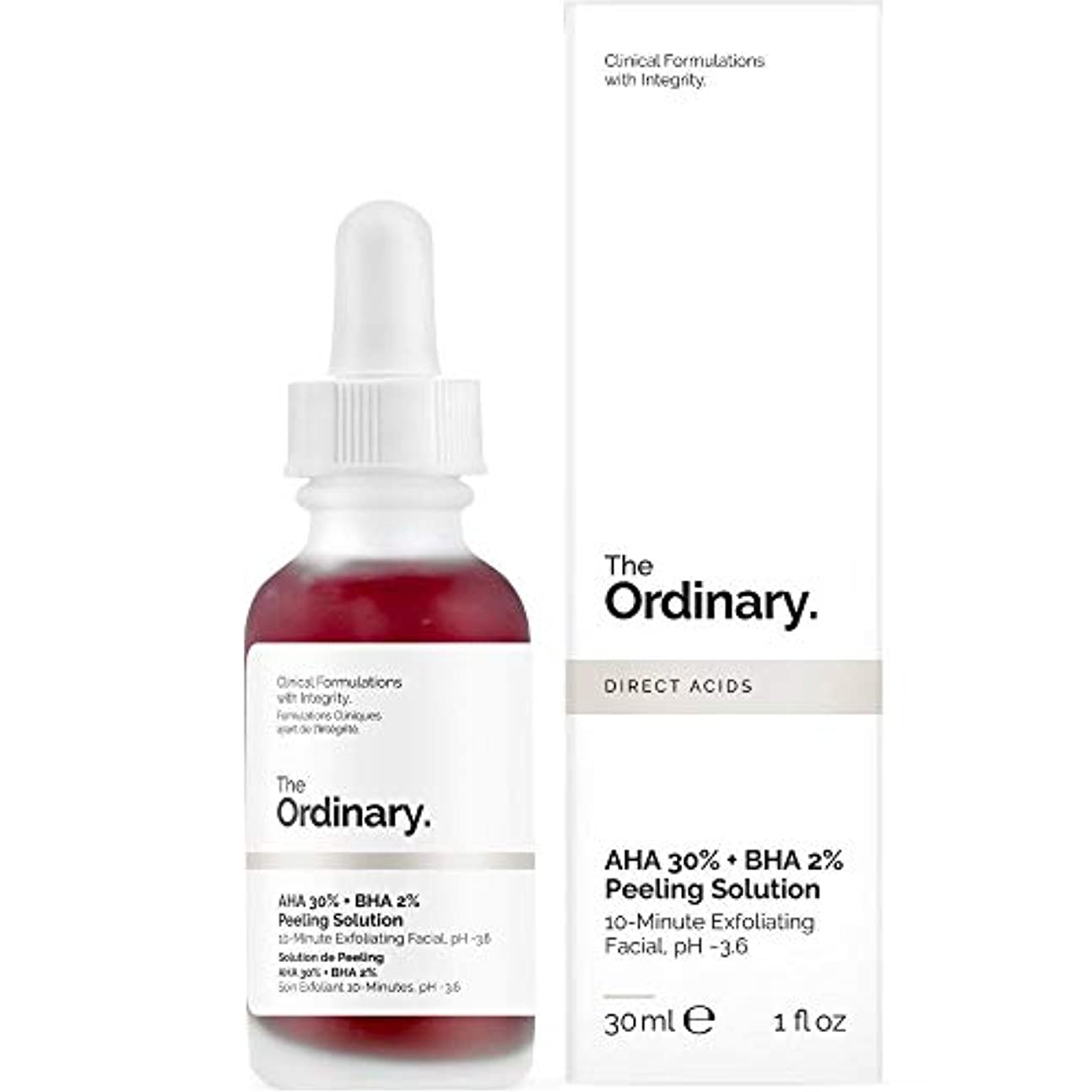 分離する慣れている感謝祭The Ordinary AHA 30% + BHA 2% Peeling Solution 30ml