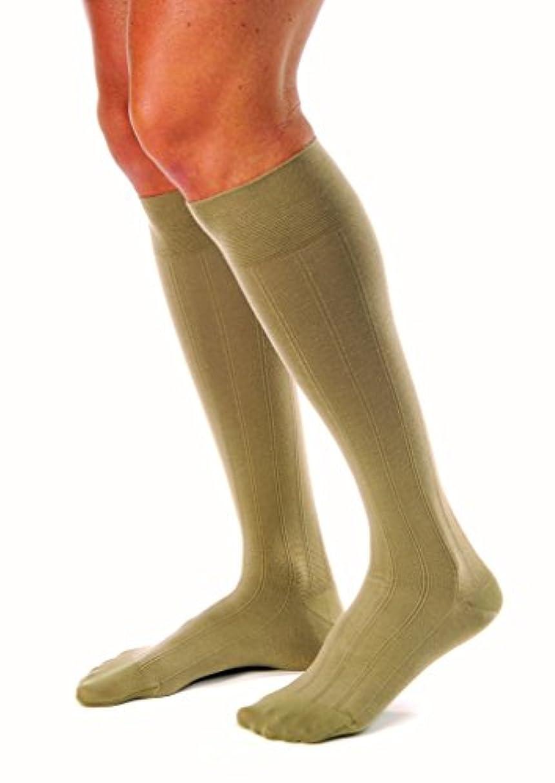 モザイク黒人人気Men's 15-20 mmHg Moderate Casual Knee High Support Sock Size: Medium, Color: Khaki by Jobst