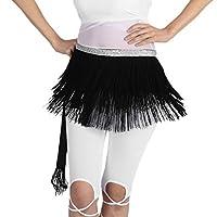 D DOLITY 5色 フリンジ スカート ヒップスカーフ タッセル ウエストチェーン セクシー ベルト ダンス衣装  - ブラック