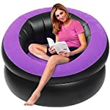 LetsFunny Inflatable Lounge Chair, Portable Inflatable Sofa Camping Chair Seats for Camping, Hiking,Swimming Pool or Home Chairs Furniture, 40