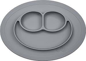 エデュテ ezpz (イージーピージー) ミニマット グレー色 ぴったり吸着 ひっくり返らない シリコン製 ベビー食器