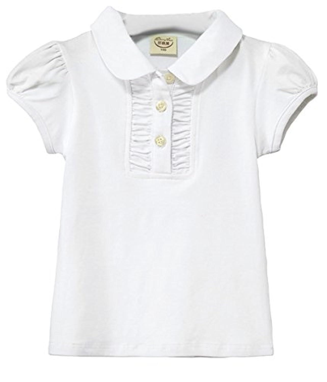 (コ-ランド) Co-land 子供服 女の子 半袖 Tシャツ 女児 トップス 無地 ブラウス 可愛い ガールズ 通園 ルームウエア カジュアル 120 ホワイト