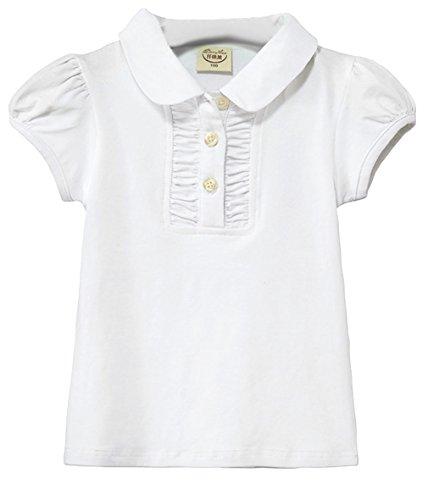 (コ-ランド) Co-land 子供服 女の子 半袖 Tシャツ 女児 トップス 無地 ブラウス 可愛い ガールズ 通園 ルームウエア カジュアル 150 ホワイト