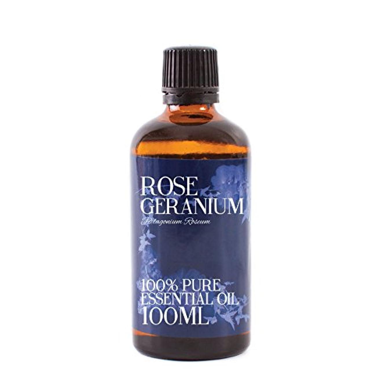 宙返り挨拶用量Mystic Moments   Rose Geranium Essential Oil - 100ml - 100% Pure