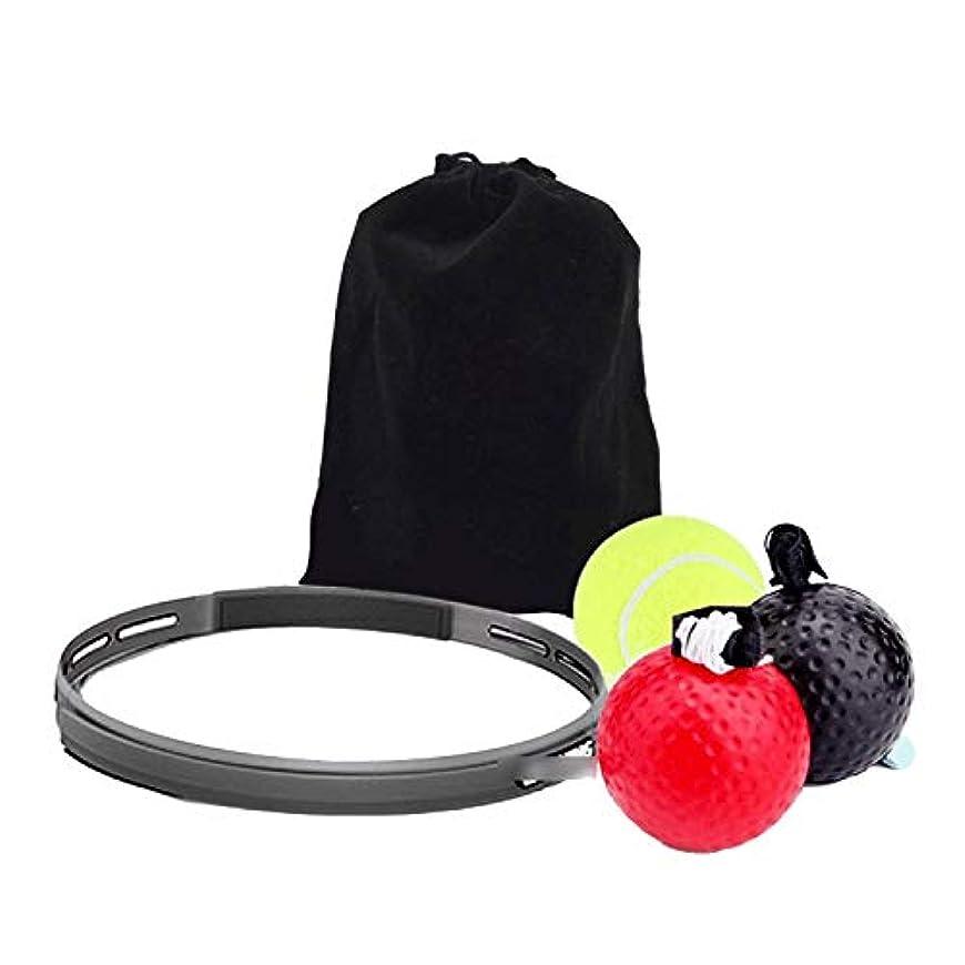 ライフル身元可動式LULUFUN パンチングボール ボクシング ボール ファイトボール 練習ボール トレーニング 格闘技 打撃練習 フリー戦闘 反射神経 動体視力 迅速な対応能力など鍛え 収納袋付 ヘッドバンド付き 弾力付き 5点入れ
