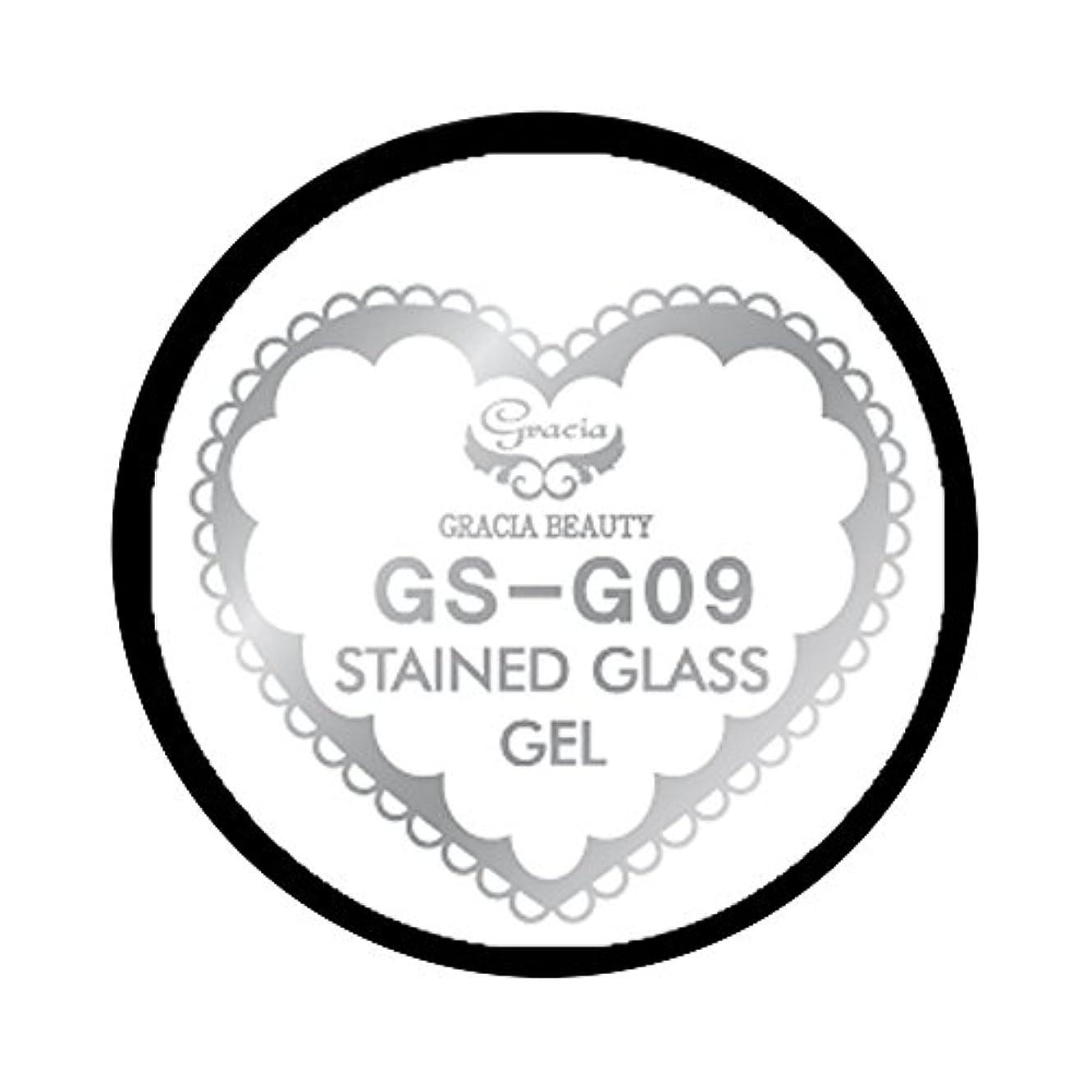 筋肉の怖がらせるアルネグラシア ジェルネイル ステンドグラスジェル GSM-G09 3g  グリッター UV/LED対応 カラージェル ソークオフジェル ガラスのような透明感