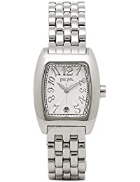 [フォリフォリ]Folli Follie レディース WF5T080BDS 24ミリ シルバー ステンレス シルバーケース ホワイト文字盤 White 腕時計 [並行輸入品]