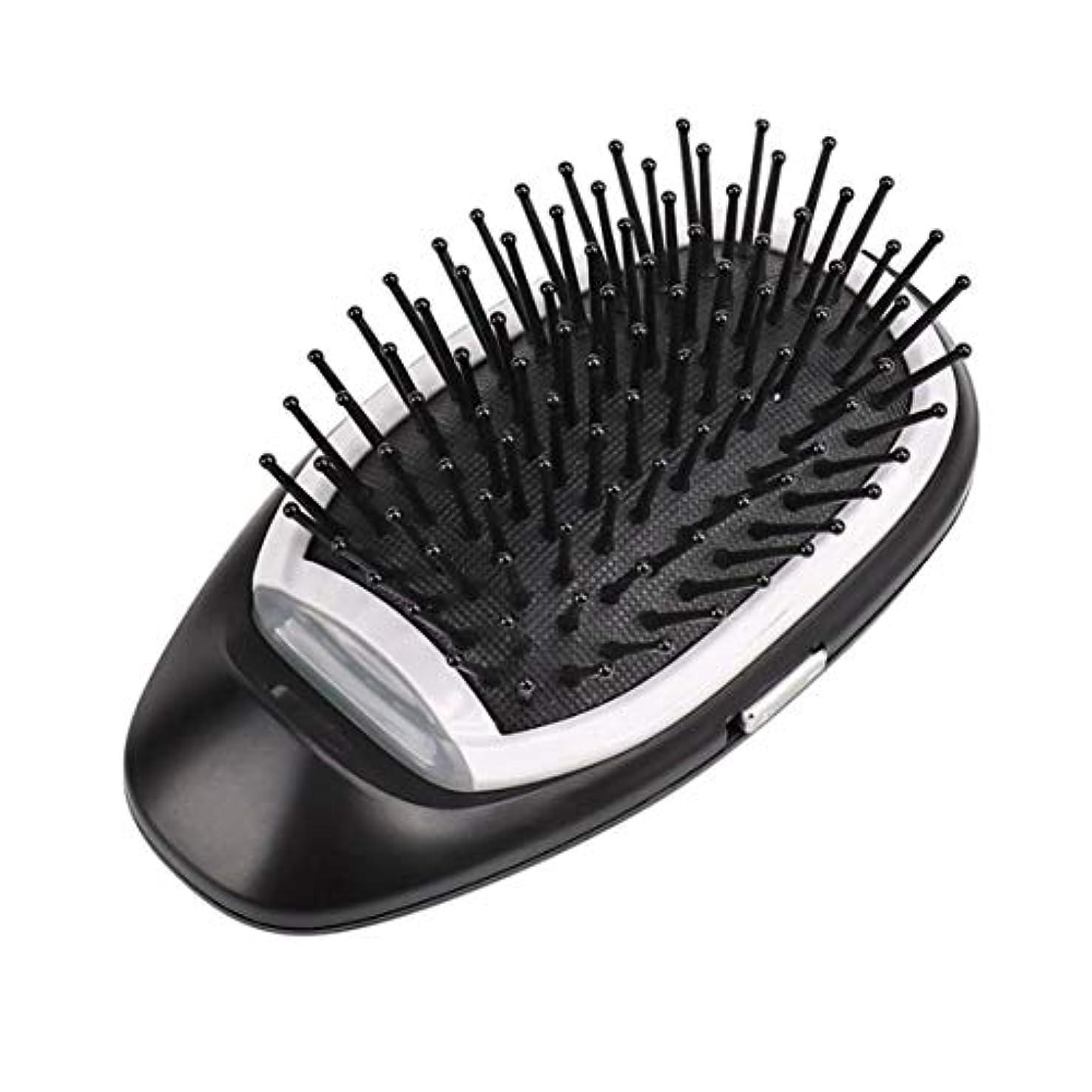 Intercoreyマイナスイオン電気髪ブラシくしマッサージヘアくしヘアストレートナー抗静的女の子くし理髪ツール