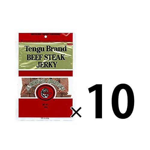 テング ビーフジャーキー ミディアムチャンク 160g (レギュラー)10袋セット