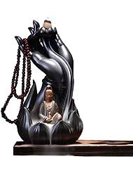 Getupp 陶器 倒流香 香炉 線香立て 流川香 お香用具 お線香 渦巻き線香 アロマ 香熏香炉 逆流 癒し香炉 仏壇用香炉 自然の雰囲気 ヨガ 瞑想 庭園用 (スタイルb)