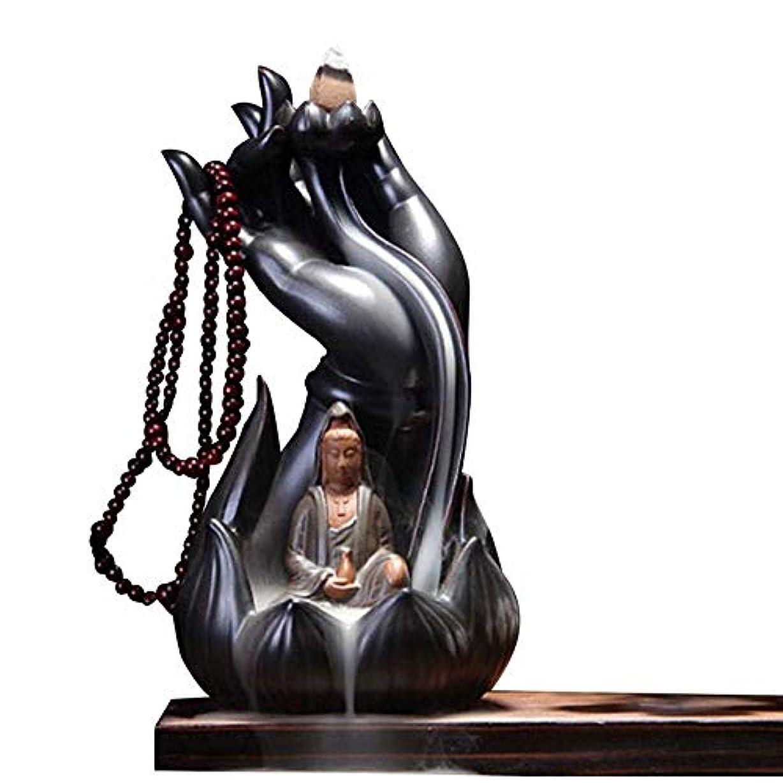 現金不安定なファイルGetupp 陶器 倒流香 香炉 線香立て 流川香 お香用具 お線香 渦巻き線香 アロマ 香熏香炉 逆流 癒し香炉 仏壇用香炉 自然の雰囲気 ヨガ 瞑想 庭園用 (スタイルb)