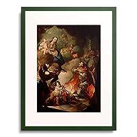 Meister, Ungarischer,18.Jahrhundert 「Der hl.Stephan bietet seine Krone der hl.Jungfrau an.」 額装アート作品